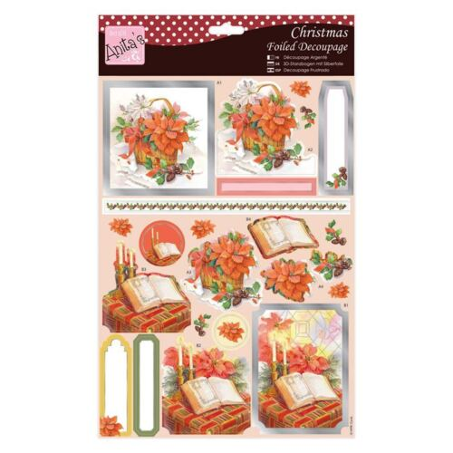 ** Bible /& Flowers ** for cards//crafts Beautiful Anitas A4 Foiled Decoupage