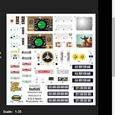 Paragrafix -LOST IN SPACE JUPITER 2 DECAL SET FOR STOCK INTERIOR PGX122 Sci-F...