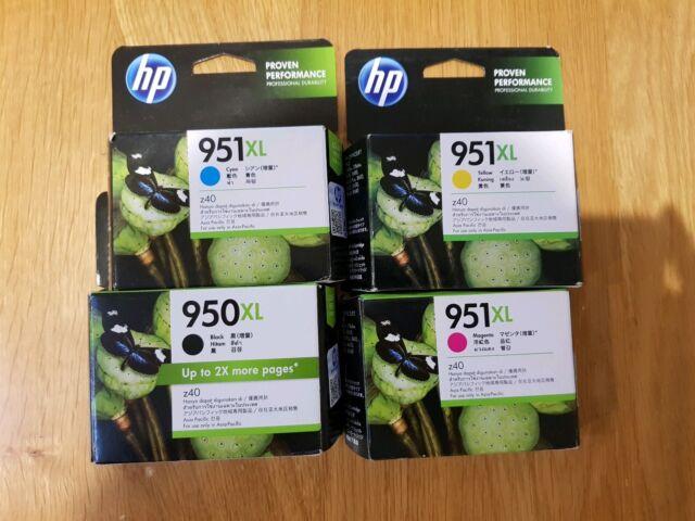 4x HP Genuine 950XL 951XL Ink Cartridges BLACK C/M/Y 8100/8600/8600 Plus NIB