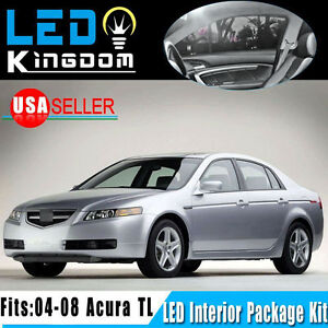 14 pieces pure white led light bulbs interior package kit - 2004 acura tl led interior lights ...