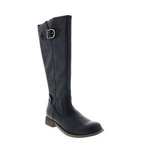 Harley-Davidson Keyser D84484 Womens Black Leather Zipper Casual Dress Boots