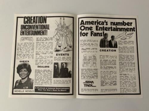 Creation Convention Star Trek Doctor Who Dark Shadows Oct 31-Nov 1 1987 Brochure