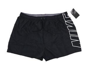 NIKE Herren Bermuda Shorts mit Logo Print schwarz Badehose Swim Short Größe XXL
