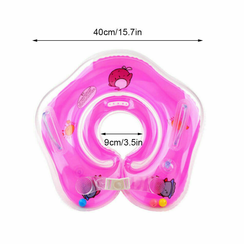 Cute Floating Inflatable Newborn Baby Swimming Pool Bath Shower Ring Circle