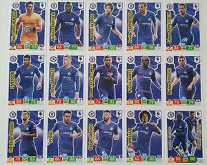2019-20-Chelsea-Team-Set-Soccer-Cards-Panini-Adrenalyn-EPL-15-cards