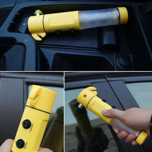Car Auto LED Torch Flashlight Emergency Safety Hammer Belt Cutter Escape Tool ne