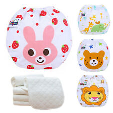5 Diapers+ 5 INSERTS Washable Cloth Baby Diaper Nappies Adjustable Reusable Lot