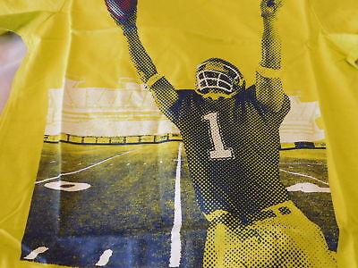 #1 Football T Shirt Boys Kids S Small 5 6 NEW CRAZY 8 Yellow//Green NEW NWT