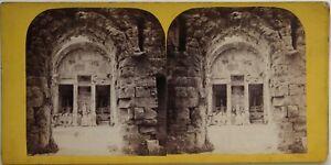 Nimes-Tempio-Da-Diane-Francia-Foto-Stereo-Vintage-Albumina-c1865