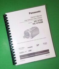 LASER PRINTED Panasonic Video HC-V700 HC-V700M Manual User Guide 179 Pages
