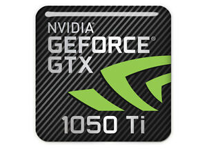 nVidia-GeForce-GTX-1050-Ti-1-034-x1-034-Chrome-Effect-Domed-Case-Badge-Sticker-Logo