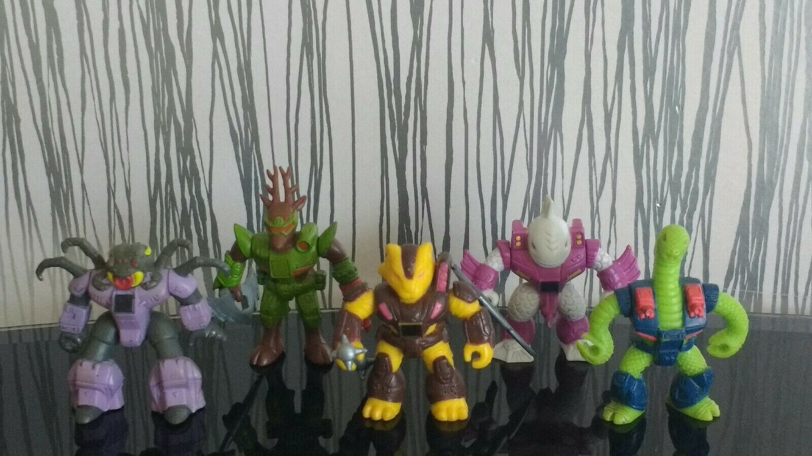 Retro80s 5 x Battle Beasts with weapons
