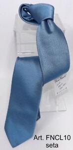 prezzo ridotto vendita a basso prezzo Prezzo del 50% Dettagli su Cravatta fantasia blu e azzurra seta italiana anche  personalizzata cravate tie