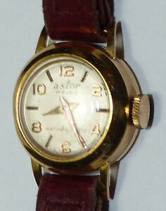 VINTAGE DONNA LADY ASTOR 17 RUBINI RUBIS Watch 18K GOLD b8