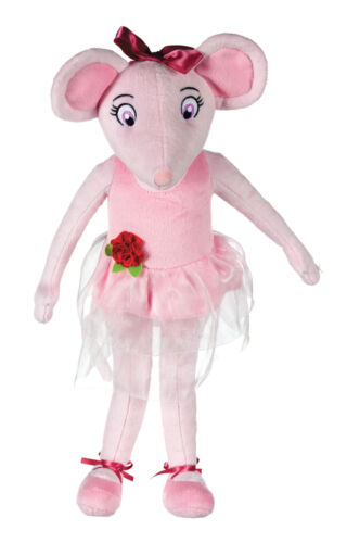 """OFFICIAL BRAND NEW 17/"""" PINK ANGELINA BALLERINA PLUSH SOFT TOY PINK DOLL"""
