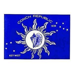3X5 CONCH REPUBLIC FLAG KEY WEST BANNER NEW ISLAND F088