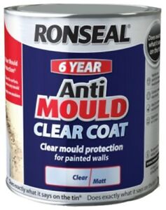 Ronseal 6 Year Anti Mould White Matt Paint for Walls and ...