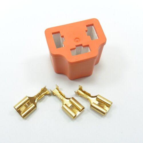H4 conector faros de cerámica reparación tres Enchufe Hembra Bombilla con terminal T172