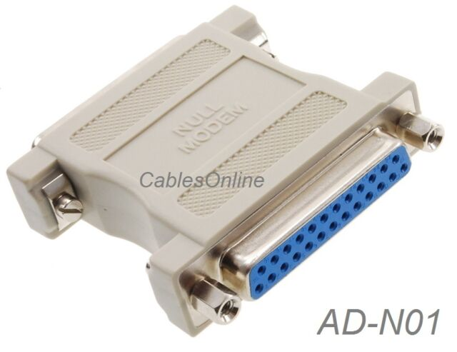 DB25 Male to DB25 Female Null Modem Crossed RS232 Adapter CablesOnline AD-N01