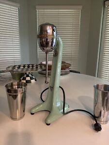 Vintage Hamilton Beach Model 33 Jadeite Green Milkshake Maker Mixer Working