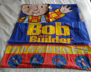 Children's Kids Bob The Builder Simple Housse De Couette Et Taie D'oreiller-afficher Le Titre D'origine Large SéLection;