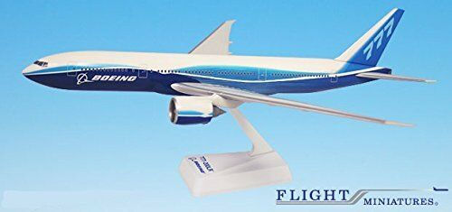 Boeing Demo (04-Cur) 777-200LR Airplane Miniature Model Plastic Snap Fit 1 200
