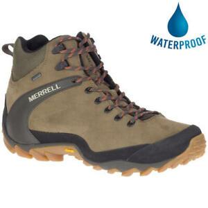 Merrell Ontario Mid WP Mens Brown Waterproof Walking Hiking Boots Size 8-11