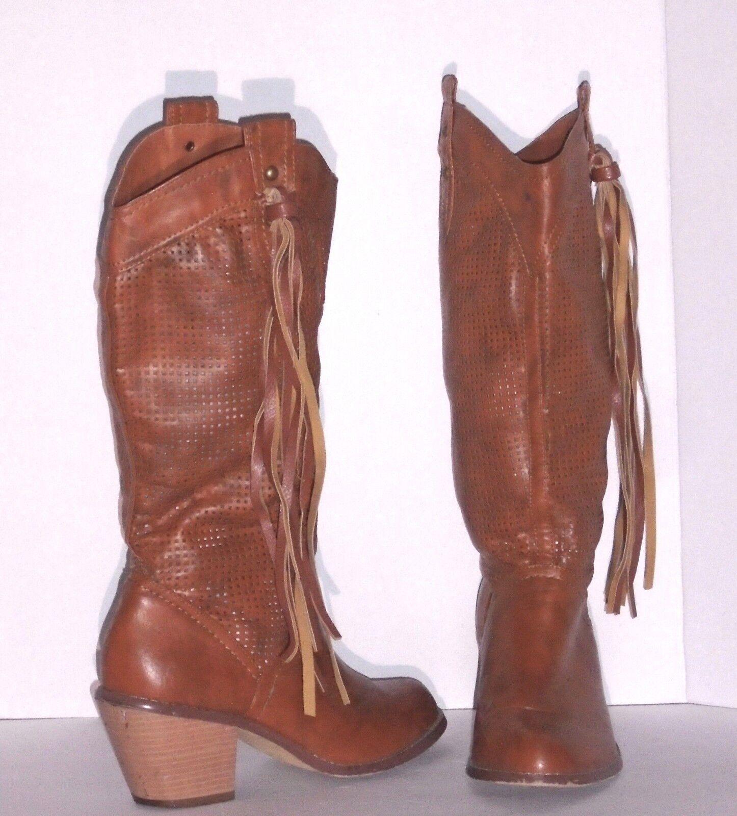 botas de Moda Occidental – – – Latisha 13 – Tamaño de Cuero Textil Castaña – 9 – Exc  aquí tiene la última