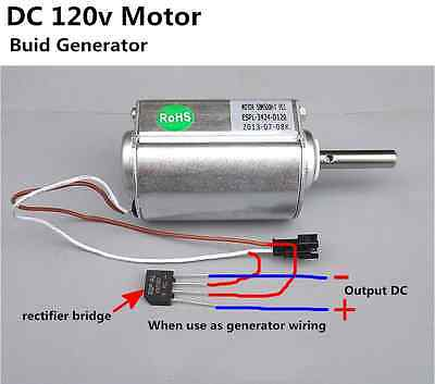 DC120VWind turbines power generator Motor Strong Torque Moment 2500 RPM