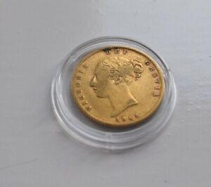 1863 Jeunes Head 3.99 G Agw 3.66 G Gold Demi Souverain-afficher Le Titre D'origine Dans Beaucoup De Styles