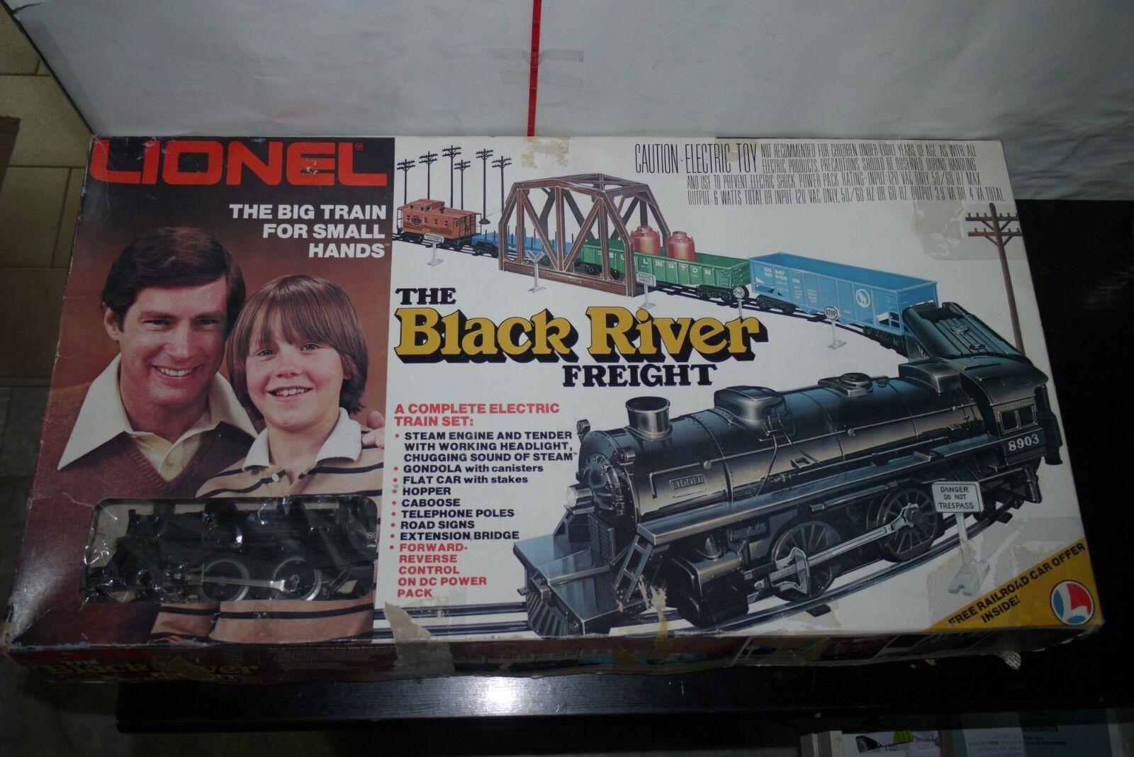 hasta un 70% de descuento Vintage 2018 Lionel el río Negro Conjunto de tren tren tren de carga o 027 calibre 6-2018 49-9906  tienda de venta en línea