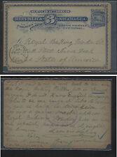 Nicaragua  postal  card  to  US   1897  to  US        KL0521