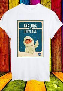 NASA-Logo-esplorate-l-039-Universo-Spazio-Astronauta-Uomini-Donne-Unisex-T-shirt-2624