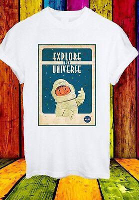 2019 Neuer Stil Nasa Logo Explore The Universe Space Astronaut Men Women Unisex T-shirt 2624