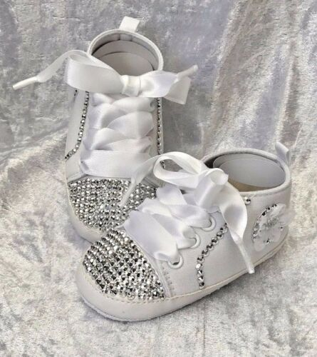 0-12 Months NEW Baby Christening Wedding Embellished Diamante Shoes Booties