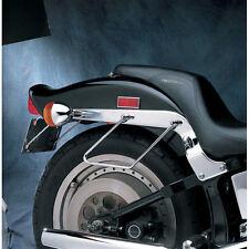 Par De Cromo Alforja soporta Para Harley-Davidson Softail 1984-99