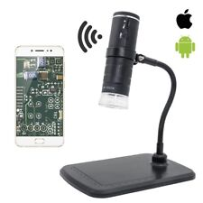 Wifi 1000x Digital Microscope Camera For Smartphone Optical Glass Lens With 8led