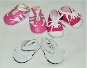 """Pink Sporty Sandals for American Girl Dolls /& 18/"""" Dolls"""