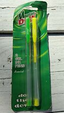 Vintage Pepsi Cola Pens Advertising Promotional Item Mountain Dew Scented Gel