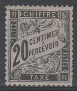 FRANCE-STAMP-TIMBRE-TAXE-N-17-034-TYPE-DUVAL-20c-NOIR-034-NEUF-xx-TTB-N583