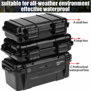 2 Pack Outdoor Plastique Étanche Survie Case conteneur stockage Carry Box