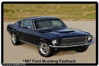 1967 Ford Mustang Fastback Refrigerator Magnet