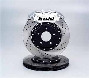 Rear Kit Brake Rotors POWERSPORT *DRILLED /& SLOTTED* CERAMIC PADS BR37732