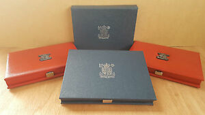 Original Royal Mint Proof Set Covers - Red Leather Deluxe Blue or Paper Covers
