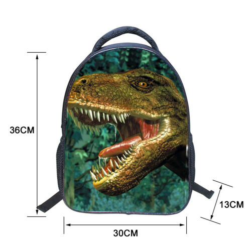 3D Cartoon Kids Backpack Print Dinosaur School Bag Shoulder Bag for Kindergarden