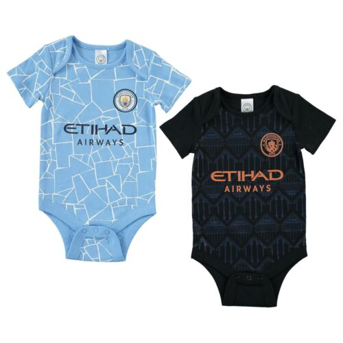 Manchester City Baby Kit 2 Pack Bodysuits2020//21