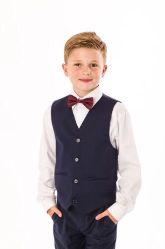 Grey Navy Suit Wedding Page boy Baby Boys Boys Suits 4 Piece Short Set Suit
