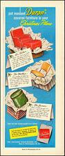 1950 vintage  AD,  DURAN Furniture Covering  Masland Duraleather (112014)
