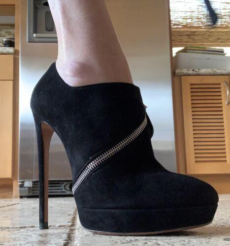 Alaia Black Booties Zipper Size 38.5