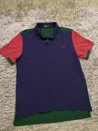 Fred Perry Color Block Polo Medium Navy / Red / Gr